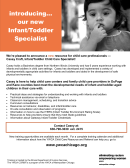 our new Infant/Toddler Specialist