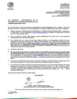 CC. DOCENTES PARTICIPANTES EN EL PROGRAMA DE