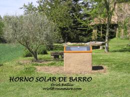 HORNO SOLAR DE BARRO