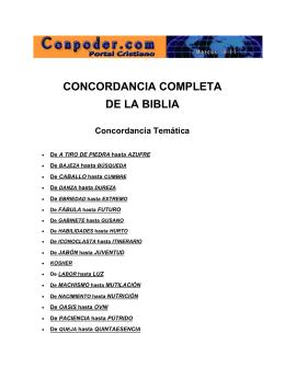 CONCORDANCIA COMPLETA DE LA BIBLIA