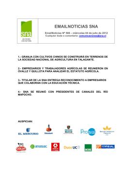 EMAILNOTICIAS SNA - Sociedad Nacional de Agricultura
