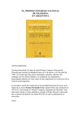 CONGRESO DE FILOSOFIA DE MENDOZA