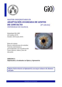 adaptación avanzada de lentes de contacto