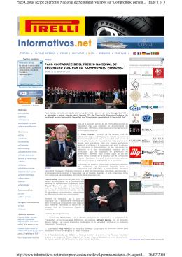 Page 1 of 3 Paco Costas recibe el premio Nacional de Seguridad