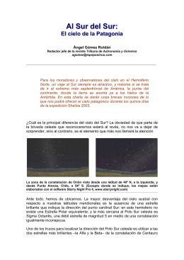 Al Sur del Sur: el cielo de la Patagonia