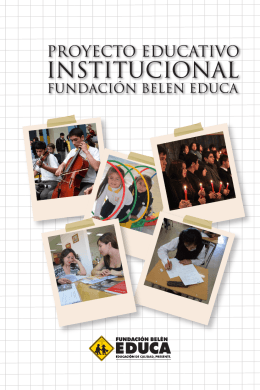 PROYECTO EDUCATIVO - Fundación Belén Educa