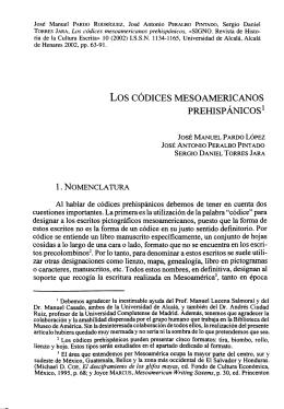 Los Códices Mesoamericanos Prehispánicos
