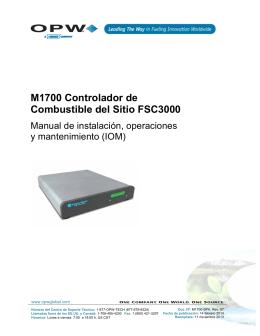 M1700 Controlador de Combustible del Sitio FSC3000