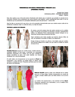 tendencias de moda primavera-verano 2014