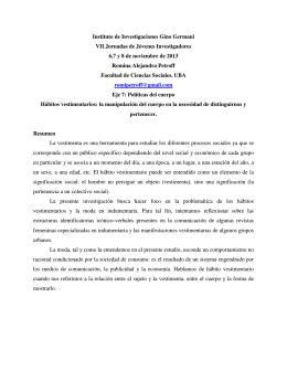PETROFF, Romina Alejandra - Jornadas de Jóvenes Investigadores