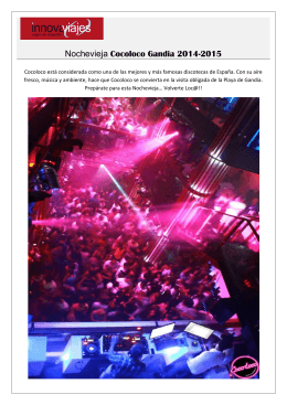 Nochevieja Cocoloco Gandia 2014-2015