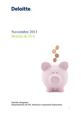 Noviembre 2013 Boletín de IVA