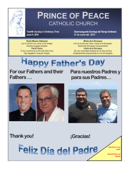 Thank you! - Prince of Peace Catholic Church