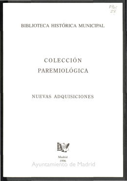 Colección Paremiológica