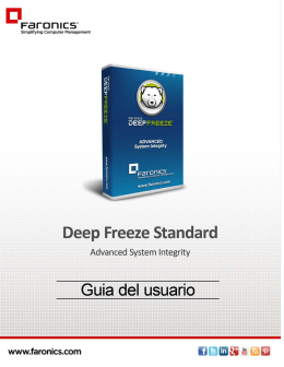 Deep Freeze Standard User Guide
