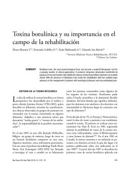 Toxina botulínica y su importancia en el campo de la rehabilitación
