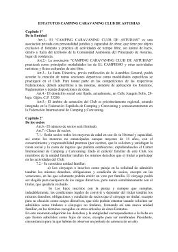 Estatutos del club - Camping Caravaning Club de Asturias