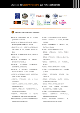 empresas colaboradoras veterinaria