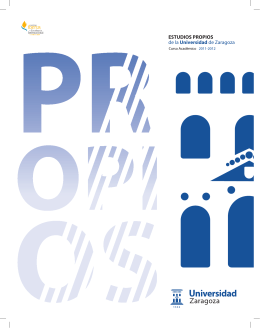 Estudio Propio - Universidad de Zaragoza