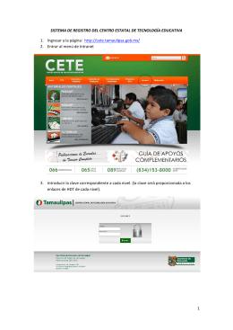 Sistema de Registro CETE - Secretaría de Educación de Tamaulipas