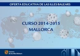 curso 2014-2015 mallorca - Col·legi Sant Vicenç de Paül (s`Arenal)
