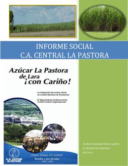 INFORME SOCIAL C.A. CENTRAL LA PASTORA