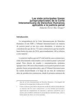 Las siete principales líneas jurisprudenciales de la Corte