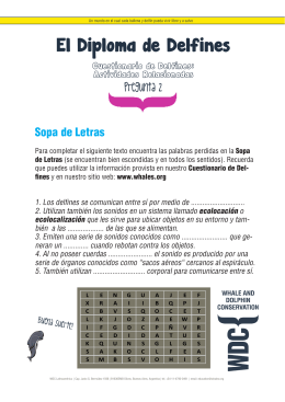 El Diploma de Delfines - WDC, Whale and Dolphin Conservation