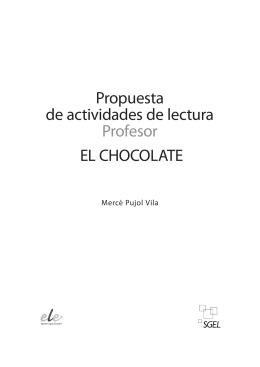 Propuesta de actividades de lectura Profesor EL CHOCOLATE