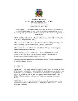 itbis-00 - Dirección General de Impuestos Internos