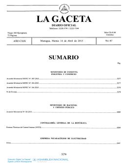 CGR publicado en la Gaceta No. 67 del 14-04-2015
