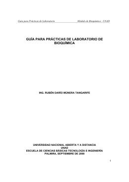 GUÍA PARA PRÁCTICAS DE LABORATORIO DE BIOQUÍMICA