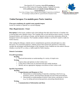 Unión Europea: Un modelo para Norte América