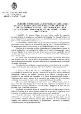 EXCMO. AYUNTAMIENTO 44600 ALCAÑIZ (Teruel)