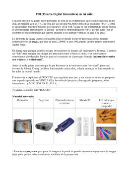 PDI (Pizarra Digital Interactiva) en mi aula: