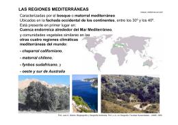 las regiones mediterráneas - Facultad de Humanidades-UNNE