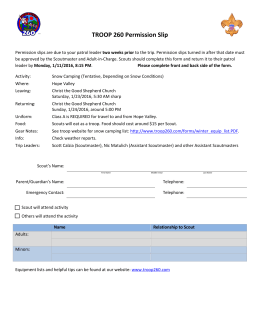 2013 permission slips - the Troop 260 Homepage