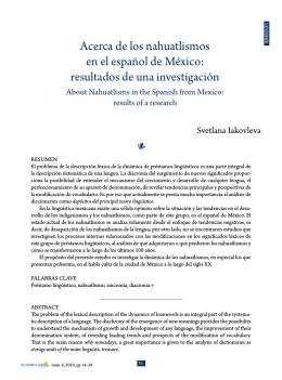 Acerca de los nahuatlismos en el español de México