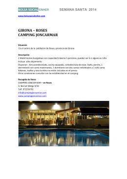 GIRONA – ROSES CAMPING JONCARMAR