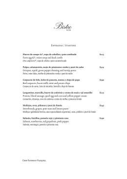 menu bistro 2015