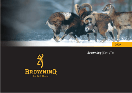 Browning| Caza y Tiro - Browning International