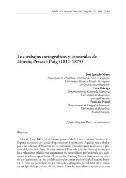 Los trabajos cartográficos y catastrales de Llorenç Presas i