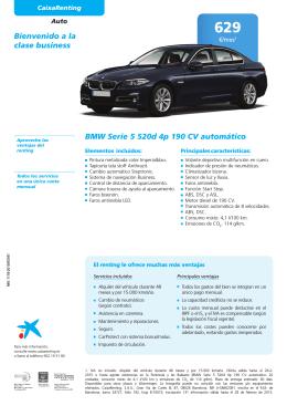 Bienvenido a la clase business BMW Serie 5 520d 4p 190 CV