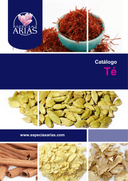 CATALOGO TE - Especias Arias