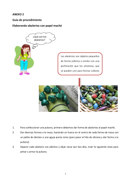 ANEXO 2 Guía de procedimiento Elaborando abalorios con papel