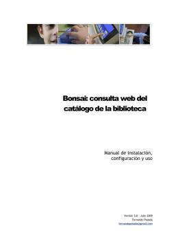 Bonsai: consulta web del catálogo de la biblioteca