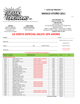 MEXICO SPECIAL SALE PRICE LIST 11-07-11
