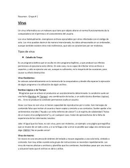 Tipos de virus - Computación I / Informática I