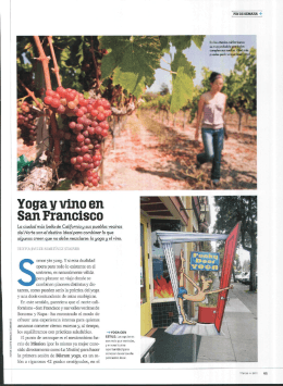 Yoga y vino en San Francisco