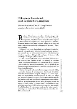 El legado de Roberto Arlt en el Instituto Ibero